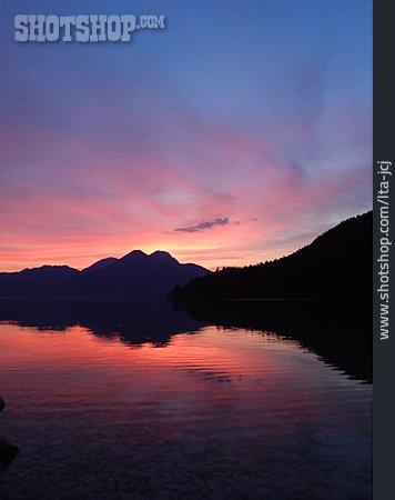 Sunset, Walchensee