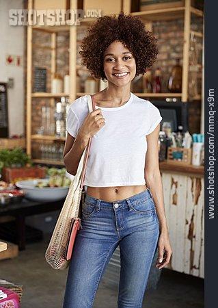 Woman, Ecologically, Customer