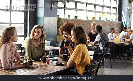 Cafe, Friends, Meeting
