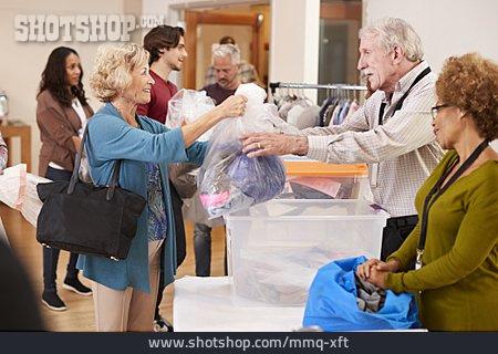 Senior, Give, Clothes Donation