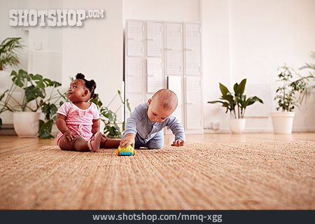 Baby, Playing, Toy Car