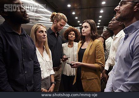 Elevator, Colleagues, Awkward