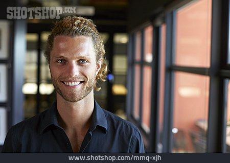 Man, Smiling, Portrait