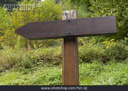 Direction, Footpath Sign