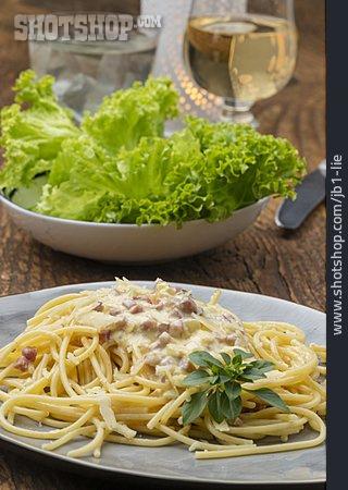 Spaghetti, Carbonara Sauce