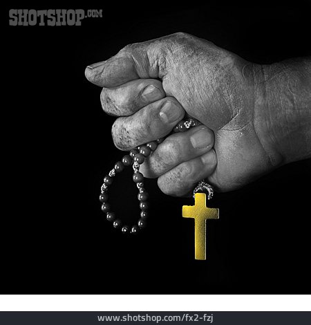 Religion, Crucifix, Rosary Beads