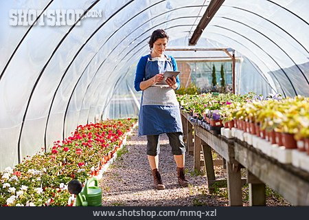 Greenhouse, Garden Center, Quality Control, Tablet-pc