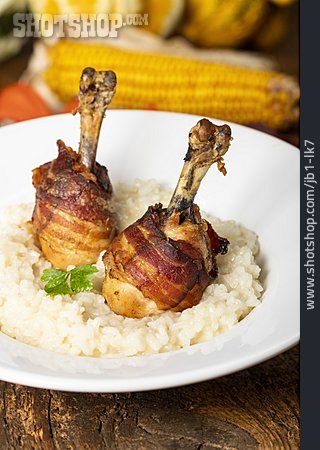 Chicken Thighs, Risotto