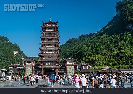 Entrance, Nature, Pagoda