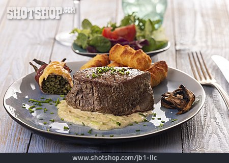 Meal, French Cuisine, Beef Fillet