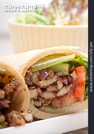 Sandwich, Kebab, Wrap