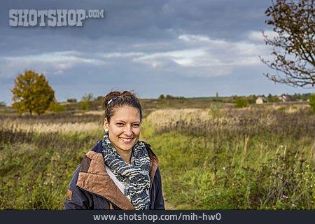 Woman, Nature, Portrait