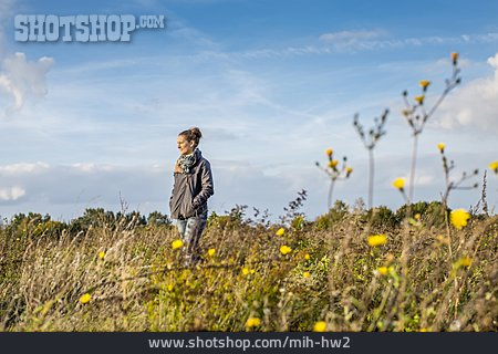 Woman, Nature, Walk