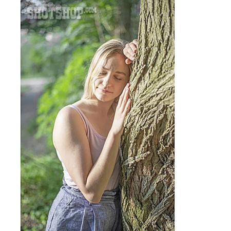 Woman, Nature, Relaxing