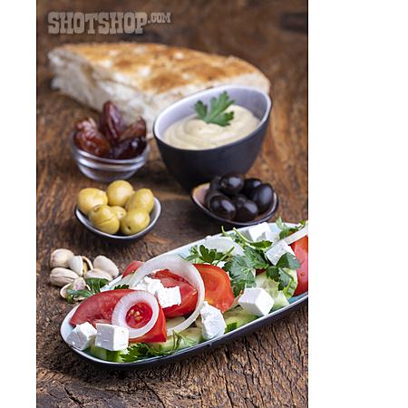 Appetizer, Focaccia Bread, Hummus