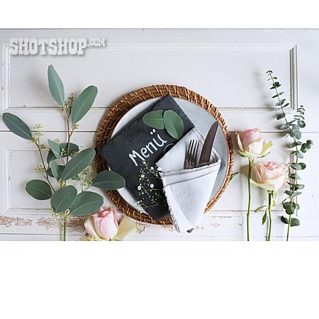 Wedding, Table Cover, Menu