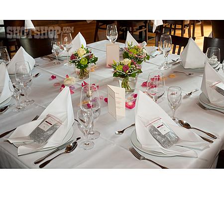 Wedding, Table Decoration, Restaurant