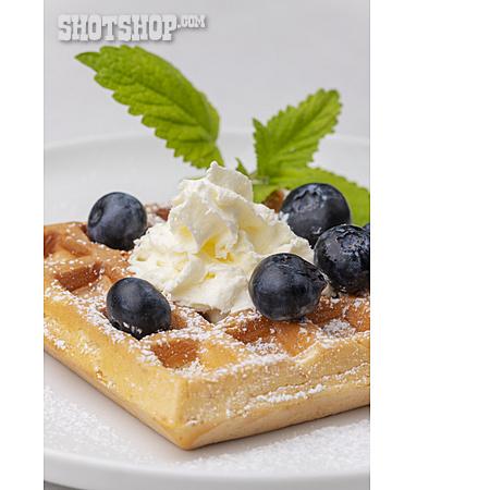 Dessert, Home Made, Belgian Waffle