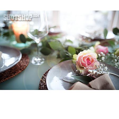 Wedding, Romantic, Place Setting, Wedding Table