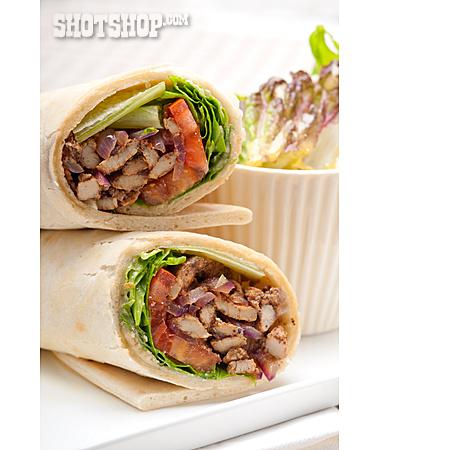 Snack, Kebab, Wrap