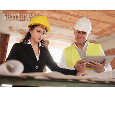 Meeting, Construction Site, Construction Manager, Architect