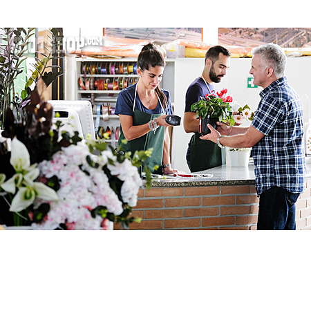 Customer, Scanning, Flower Shop, Flower Sales
