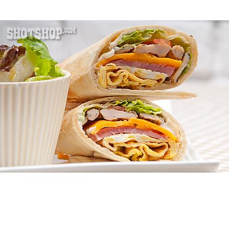 Snack, Sandwich, Wrap