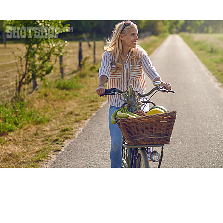 Woman, On The Move, Bicycle