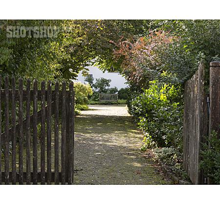 Park, Entrance, Bench