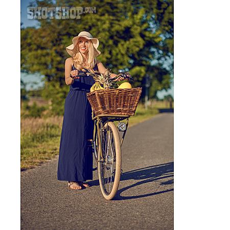 Shopping, Cyclist, Summer Sundress