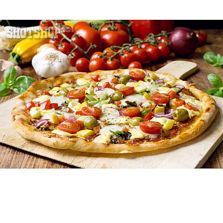 Vegetarian, Pizza, Pizza