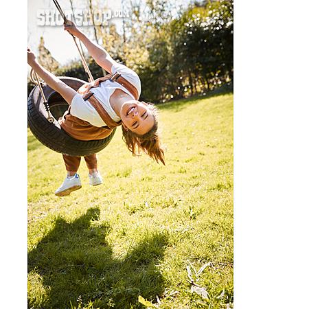 Girl, Happy, Fun, Swing