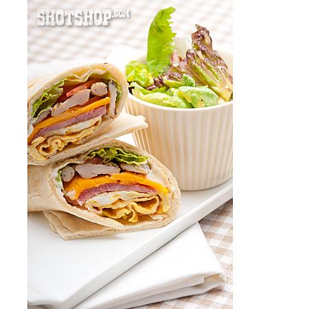 Meal, Sandwich, Wrap