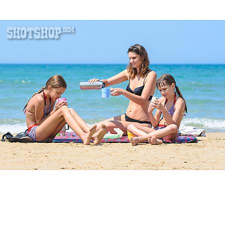 Beach, Summer, Family, Picnic