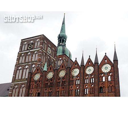 Stralsund, Town Hall, Nikolaikirche