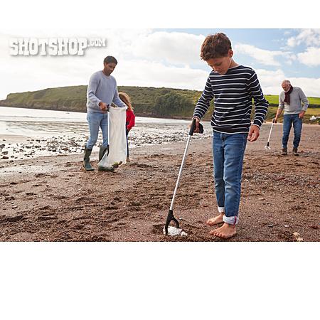 Beach, Collecting, Waste, Volunteer
