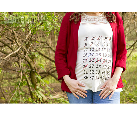 Calendar, Pregnancy, T-shirt, Birthday