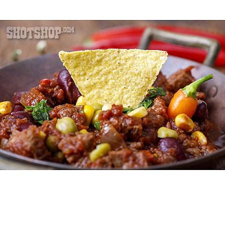 Chili Con Carne, Nachos, Bean Stew