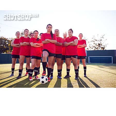 Arms Crossed, Group Picture, Women Soccer