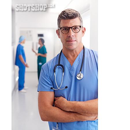 Doctor, Portrait, Surgeon