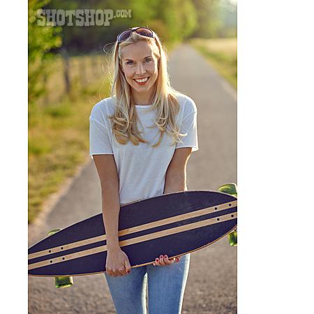 Woman, Longboarding