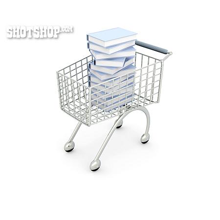 Shopping, Book, Cart