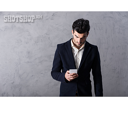 Businessman, Mobile Communication, Online, Smart Phone