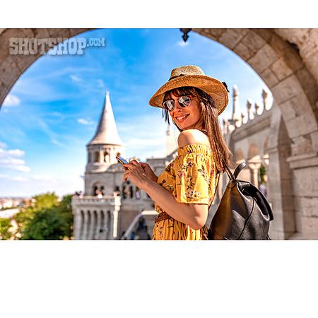 Summer, City Trip, Smart Phone, Tourist