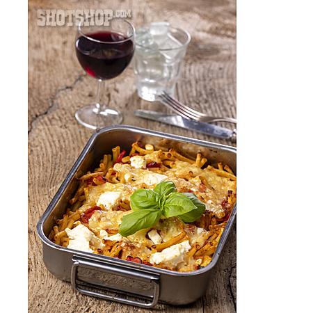Red Wine, Dinner, Noodle Casserole
