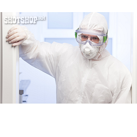 Doctor, Exhausted, Pandemic, Protective Clothing