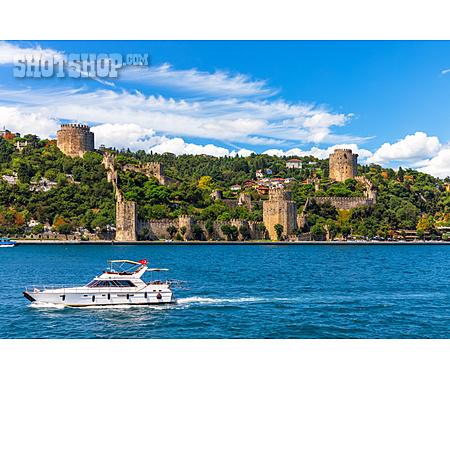 Boat, Bosphorus, Istanbul, Rumeli Hisarı