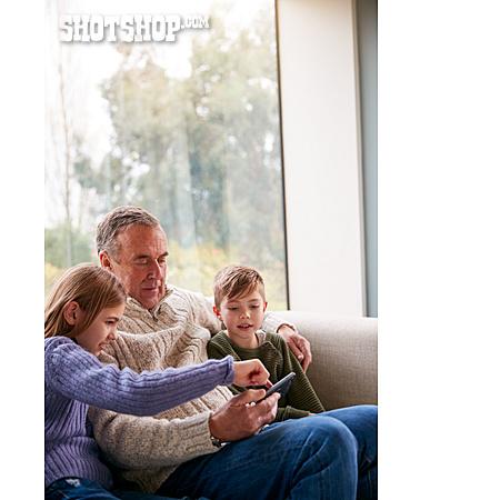 Grandfather, Home, Online, Grandchildren