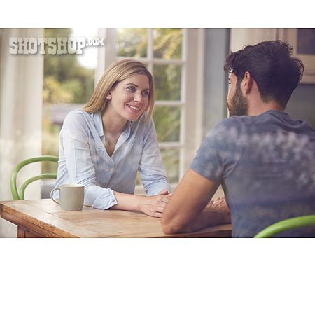 Interview, Couple, Looking At Each Other