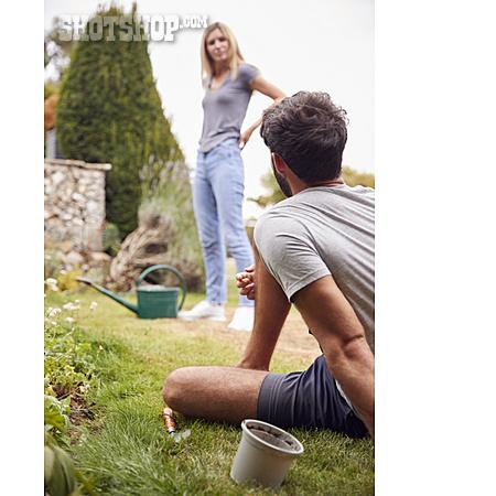Couple, Gardening, Gardening